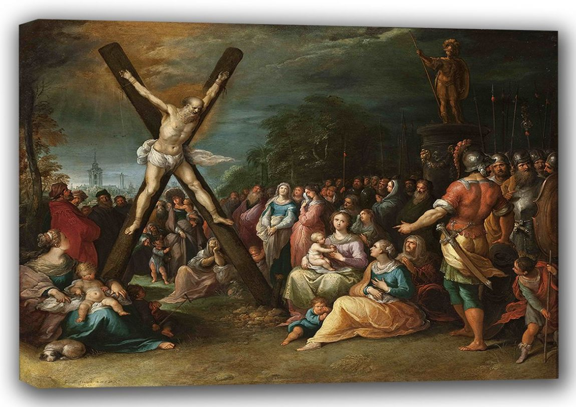 Francken, Frans the Younger: St Andrew on the Cross. Fine Art Canvas. Sizes: A4/A3/A2/A1 (001508)